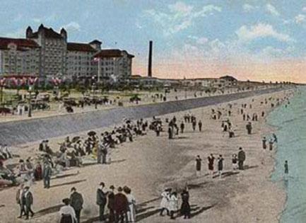 early galveston beach scene