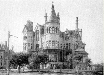 beautiful building with spires in early galveston