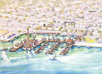 painting of early galveston history