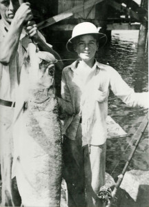 george and cynthia mitchell with Fish